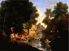 Landscape with classical deities by Thomas Barker of Bath