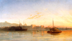 The Thames at Greenwich by Attributed to William Adolphus Knell