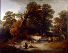 Landscape with drover, cattle and milkmaids by Thomas Gainsborough RA