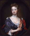 Portrait of a young woman by Sir Godfrey Kneller Bt.