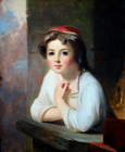Peasant Girl by Thomas Sully
