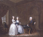 The Duke of Montagu and family by Gawen Hamilton