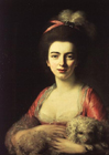 A Lady with a dog by Nathaniel Hone the Elder