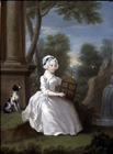 Young girl in a garden by William Hogarth