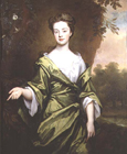 Woman in a green dress by Sir Godfrey Kneller Bt.